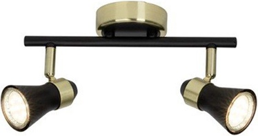 Brilliant Spotlight Jupp Lamp 2x7W GU10 Black/Brass