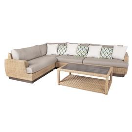 Модульный диван Home4you 4741243138018 Tanja, серый/песочный, 94 x 219 x 71 см