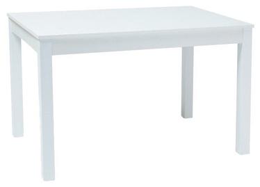 Обеденный стол Signal Meble Prism White, 1200x800x750 мм