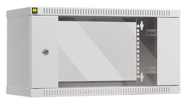 Netrack Wall Cabinet 19'' 6U/240mm Glass Grey