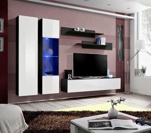 Dzīvojamās istabas mēbeļu komplekts ASM Fly A5 White/Black