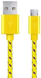 Esperanza Braided Cable USB to USB-micro Yellow 1m