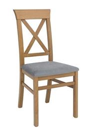 Ēdamistabas krēsls Black Red White Bergen Larch Sibiu Gold/Grey, 1 gab.