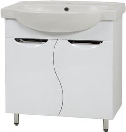 Vannas istabas skapis ar izlietni Sanservis Laura-65 XB 2D White 65x85x47.5cm