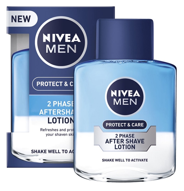 Лосьон после бритья Nivea Men Lotion 2 In 1 Protect & Care, 100 мл