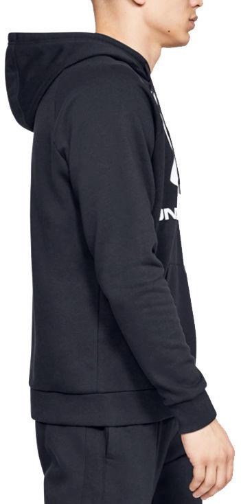 Under Armour Rival Fleece Logo Hoodie 1345628-001 Black S