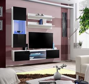Dzīvojamās istabas mēbeļu komplekts ASM Fly S3 Black/White