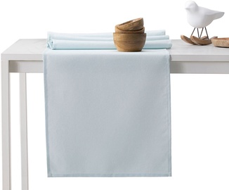 DecoKing Pure HMD Tablecloth SilverBlue Set 115x200/35x200 2pcs