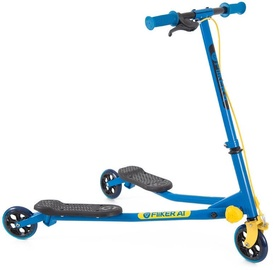Yvolution Y Fliker Air1 Swing Wiggle Scooter Blue/Yellow