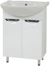 Vannas istabas skapītis Sanservis Laura-60 525x846x296mm White
