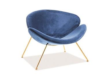 Atzveltnes krēsls Signal Meble Major Velvet Navy/Gold, 84x49x72 cm