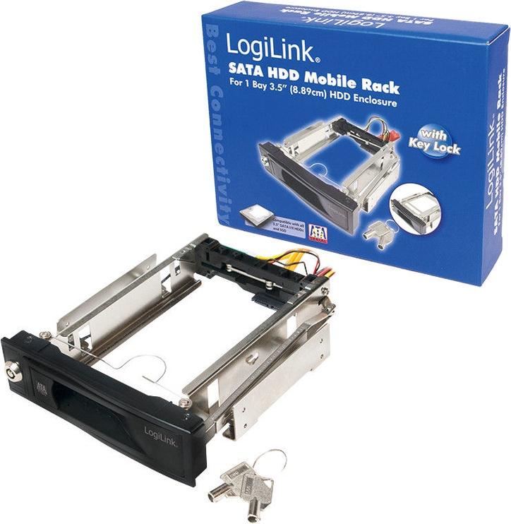 """Logilink 5.25"""" Mobile Rack for 3.5"""" HDD Black"""
