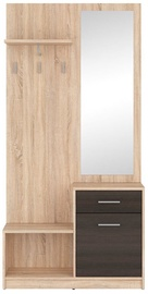 Black Red White Halway Unit Nepo Sonoma Oak/Wenge