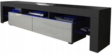 TV galds Pro Meble Milano 200 With Light Black/Grey, 2000x350x450 mm