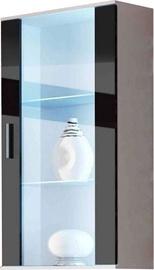 Шкаф-витрина Cama Meble Soho 22, белый/черный, 60x29x115 см