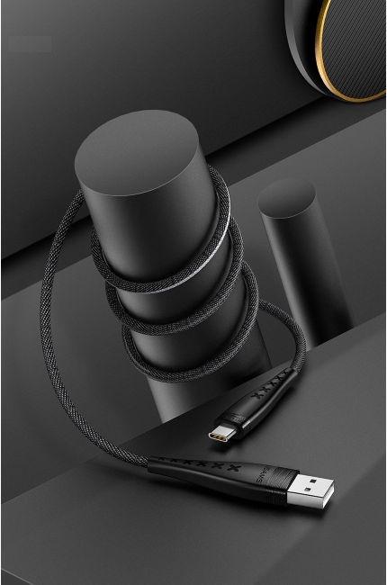 Usams U11 Nylon Braided USB To USB Type-C Cable 1.2m Black