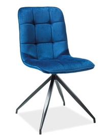 Ēdamistabas krēsls Signal Meble Texo Velvet Blue, 1 gab.