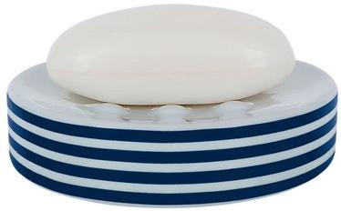 Spirella Soap Dish Tube Stripes Blue