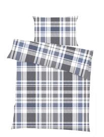 Комплект постельного белья Domoletti 14384, синий/белый/серый, 140x200