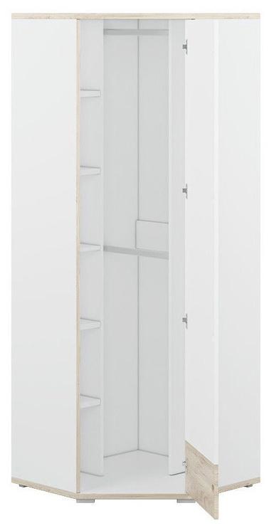 Skapis ML Meble Kubu 13, balta, 75x75x200 cm