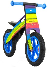 Velosipēds Milly Mally KING Wooden Balance Bike Rainbow 2282