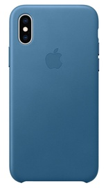 Apple Leather Back Case for Apple iPhone XS MAX Cape Cod Blue