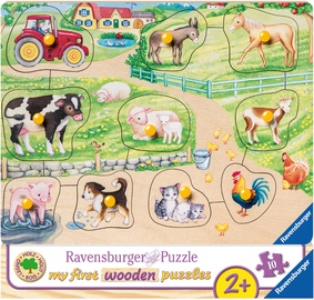Puzle Ravensburger My First Wooden Farm 036899, 10 gab.