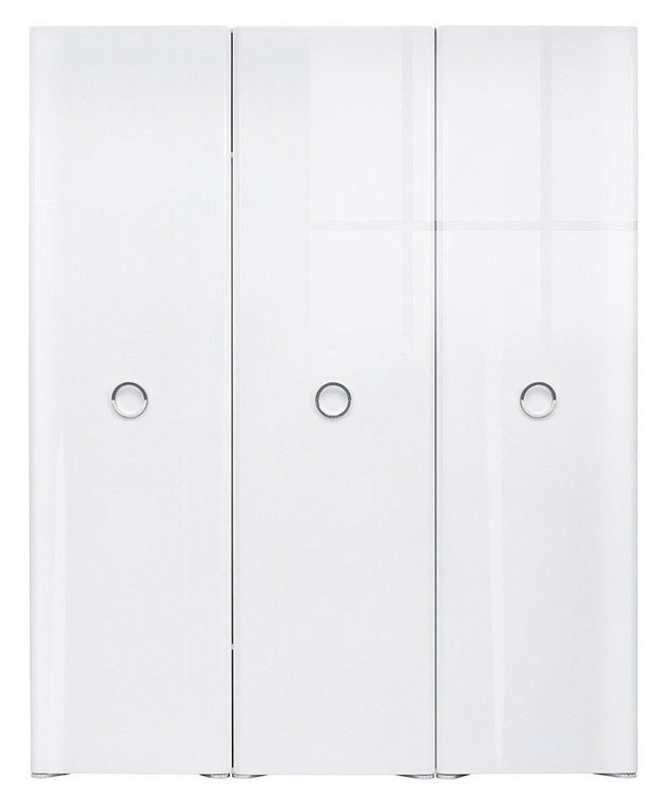 Black Red White Roksana II Wardrobe White