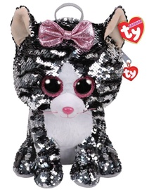 TY Fashion Plush Sequin Backpack Kiki Cat