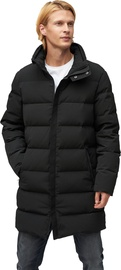 Audimas Mens Puffer Down Coat With Membrane Black XXXL
