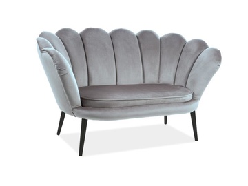 Dīvāns Signal Meble Magnolia 2 Velvet Sofa Grey/Wenge, 85 x 152 x 87 cm