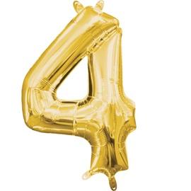 Balons Amscan NR 4, zelta, 1 gab.
