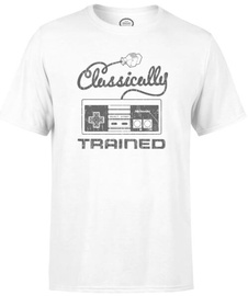 Nintendo T-Shirt Retro NES Clasically Trained White L