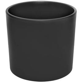 Горшок кер DOMOLETTI, WALEC STRUCTUR, д 23, чёрный мат