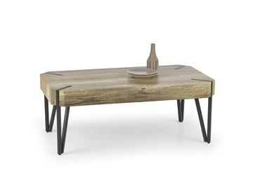 Kafijas galdiņš Halmar Emily Wild Oak/Black, 1100x600x420 mm