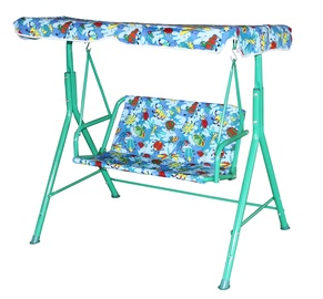 BESK Canopy Swing For Children Blue/Green