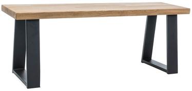Apavu plaukts Signal Meble Ronaldo Oak/Black, 1200x350x450 mm
