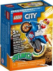 Konstruktors LEGO City Lēcienu triku motocikls 60298, 14 gab.