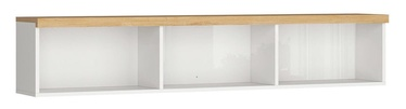 Black Red White Erla SFW Shelf 158cm White/Minerva Oak