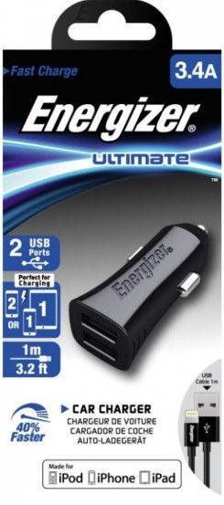 Energizer Ultimate Lightning Car Charger Black