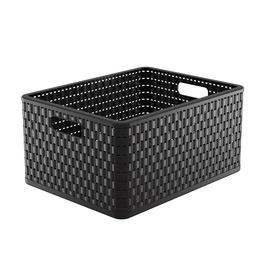 Rotho Storage Box Country With Handles A4 Plus 43x33x21.5cm Black