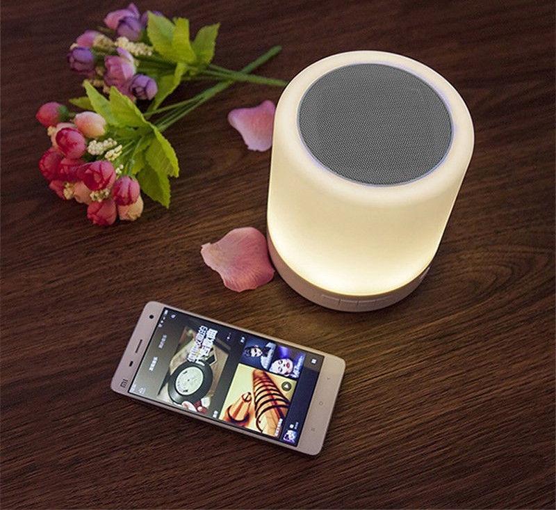 Bezvadu skaļrunis Media-Tech LightBox Touch Silver, 3 W