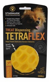 Rotaļlieta sunim Starmark Treat Dispensing Tetraflex S Yellow