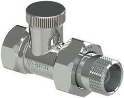 ARCO Teide Backflow Radiator Valve Straight Chrome 1/2''