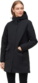 Audimas Long Water Repellent Womens Parka Black L