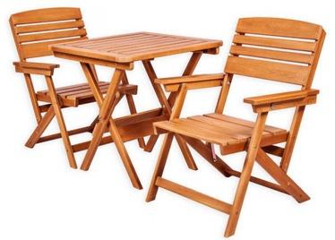 Комплект уличной мебели Folkland Timber Heini 2, коричневый, 2 места