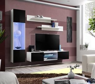 Dzīvojamās istabas mēbeļu komplekts ASM Fly R3 Black/White