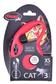 Поводок Flexi New Classic, красный, 3 м