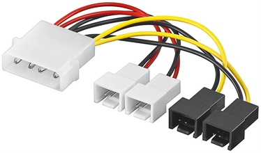 Goobay Power Cable Molex Male To Fan 2x12V+2x5V 0.15m