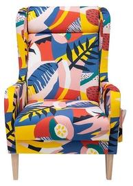 Atzveltnes krēsls Black Red White Comte Multicolor, 72x83x113 cm